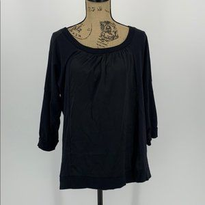 Ellen Tracy Black Tunic Top